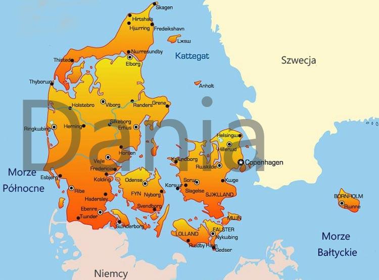 Дания - Карта